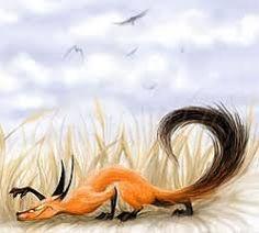 Картинки по запросу лиса охотится на мышь