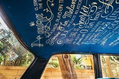 Lettering for taxi fabric by Neha Kamath