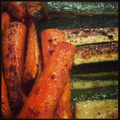 Roasted Zucchini & Carrots.....oh yum!!