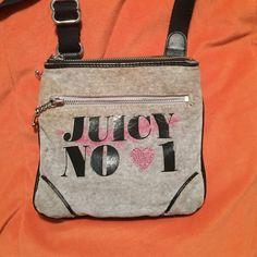 Grey Juicy Couture Handbag Used grey juicy couture crossbody signature handbag :) feel free to make reasonable offers Juicy Couture Bags Crossbody Bags