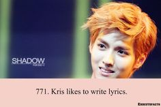 He used to write songs with Lay. And now I'm sad because ot12 is no more.