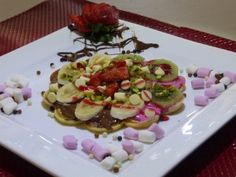 We'd like to share with you the pictures of some dessert prepared with our chocolate cream