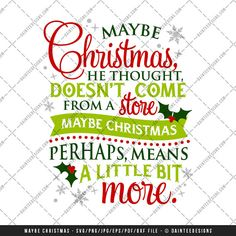 Maybe Christmas  SVG Vector DXF EPS Digital by DainteeDesignsSVGs