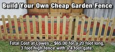 How to Build a Cheap DIY Garden Fence - DIY for Life
