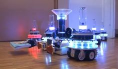 Swarmanoid - a group of swarm-bots able to cooperate for complex tasks!