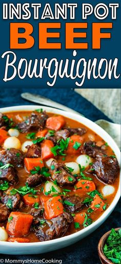 This Easy Instant Pot Beef Bourguignon Recipe has never been faster, easier, and yummier. This supremely delicious melt-in-your-mouth comfort dish is easy enough for a simple weeknight dinner and elegant enough for entertaining. Are you ready for an. Instant Pot Beef Bourguignon Recipe, Stroganoff Recipe, Mushroom Stroganoff, Instant Pot Pressure Cooker, Pressure Cooker Recipes, Pressure Cooking, Beef Recipes, Healthy Recipes, Delicious Recipes