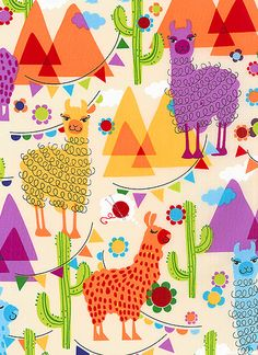 Para @Polygraw: Molly Llama - Do Llamas Dream Of Yarn? - Cream