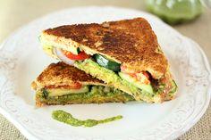 Mumbai Sandwich. An easy Indian sandwich with savory mashed potatoes, veggies and a 'heated' chutney!