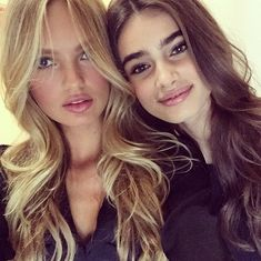 Beautiful VS friends :) Romee Strijd and Taylor Marie Hill <3 + <3 Two of my all-time favourites - bless them both!