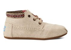TOMS Burlap Trim Women's Tribal Boots || because you could rock these now and transition them to spring seamlessly!