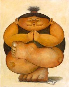 Pintura Yoga. Artista Alberto Godoy.