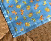 Zoo print cot or pram blanket