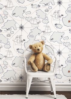 I love this for one wall in Peytons room! Lilleby kids wallpaper from Borastapeter- Playroom Wallpaper, Kids Wallpaper, Fabric Wallpaper, Kid Spaces, Boy Room, Kids Bedroom, Nursery, Idea Generation, Guest Bathrooms