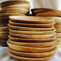 Wooden plates....rustic dining at its finest!