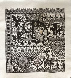 """Long dog samplers """"The Templar's prophecy"""" Everything Cross Stitch, Cross Stitch Samplers, Sewing Art, Vintage World Maps, Quilts, Dogs, Canvas, Quilt Sets, Doggies"""