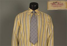 Vintage Mens 1960s Shirt  Lively Late 60s Pale by jauntyrooster