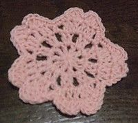桜のコースターの編み図: spoon's note