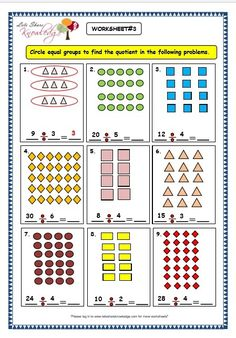 Grade 3 Maths Worksheets: Division Division by Grouping) - Lets Share Knowledge Multiplication And Division Worksheets, 3rd Grade Math Worksheets, Printable Math Worksheets, Suffixes Worksheets, Free Printable, Math Groups, Grande Section, Simple Math, Math Facts