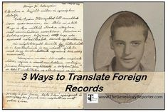 translate foreign records for genealogy easily #Hungary #genealogy #familyhistory #letters