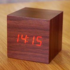 led walnut digital clock.