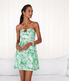 Lilly Pulitzer Summer '13- Chandie Dress in Glenda Green Beach Bash