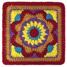 "Ravelry: Emmalynn Square 12"" pattern by Carolyn Christmas"