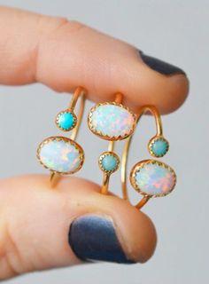 Opal + turquoise...my favs @lakaiserjewelry #opalsaustralia