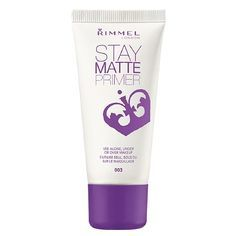 This primer works well under all types of foundations, controls shine, and keeps your face feeling fresh. // Stay Matte Primer by Rimmel London