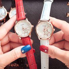 Fashion Diamond Quartz Cortical Star Luminous Waterproof Women Wrist Watch #watch #women #anchor #accessories