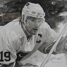 "Markus Naslund ""Canucks Captain"" by Glen Green."