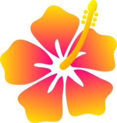 Hawaiian Flower Clip Art   Pink and Yellow Hibiscus Flower - Free Clip Art
