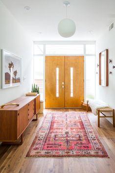 boho modern entryway