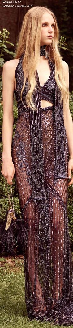 Resort 2017 Roberto Cavalli - EE. I like it but why it has to be transparent in the bottom :(