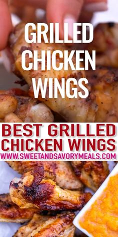 Grilled Chicken Wings are tastier than breasts and coated with a perfect rub and sauce. This dish will surely be a hit for your summer backyard barbecue party! #chicken #chickenwings #grilling #grilledchicken #sweetandsavorymeals  #recipevideo