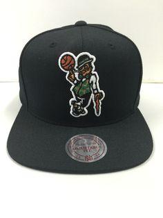 03dd4973b27 Nwt Mitchell And Ness Boston Celtics 4  NBA Wool Black Solid Snapback from   23.99