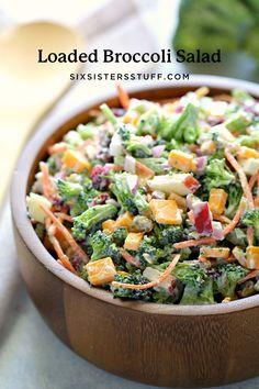 Broccoli Cauliflower, Fresh Broccoli, Broccoli Salad, Carbs In Broccoli, Broccoli Recipes, Chicken Recipes, Best Side Dishes, Side Dish Recipes, Side Dishes For Bbq