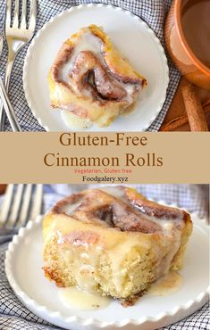 An easy no-fail recipe for gluten-free cinnamon rolls. Swirls of cinnamon and sugar in a soft gluten-free roll topped with a vanilla glaze. This cinnamon roll recipe also has a dairy-free option. Gf Recipes, Dairy Free Recipes, Cookie Recipes, Dessert Recipes, Gluten Free Sweets, Gluten Free Baking, Gluten Free Sugar Cookies, Rumchata Recipes Shots, Sin Gluten