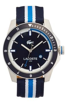 Lacoste 'Durban' Nylon Strap Watch, 46mm