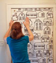 Tutorial: How to use fabric as wallpaper without damaging the paint job