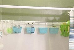 DIY Organization keep meaning to do this for the girls bathroom. Keep forgetting.