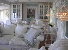 it is so serene here. Living Area, Living Rooms, Family Room, Home And Family, I Love House, Beach House Decor, Home Decor, White Rooms, Beach Cottages