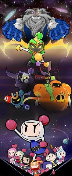 Super Bomberman R Fan art via @RamseyKaid