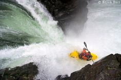 Jesse Becker on Big Kahuna Falls Canyon Creek, WA in his Liquid Logic Stomper 80.