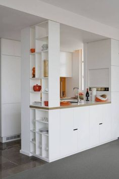 Small Studiom Ideas Organize A Small Studio Kitchen With Cabinets And Open Shelves