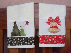 Natal - Toalhas de Lavabo by Mi Fernandes Patchwork, via Flickr