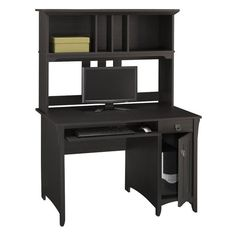 Bush Salinas Computer Desk and Hutch | from hayneedle.com