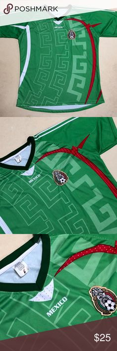 278511dc8 Mexico Football Team - Men s Soccer Jersey ⚽ Mexico National Football Team Soccer  Jersey Size