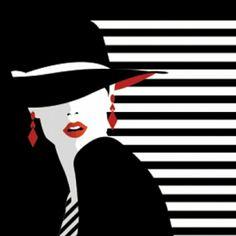 Black, White and Red Op Art, Graphic Design Illustration, Illustration Art, Modern Art, Contemporary Art, Illusion Art, Black Art, Black White, Art Deco Design
