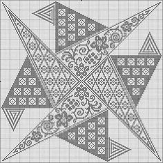 Cross Stitch Borders, Cross Stitch Flowers, Modern Cross Stitch, Cross Stitch Designs, Cross Stitch Silhouette, Blackwork Embroidery, Bargello, C2c, Crochet Stitches
