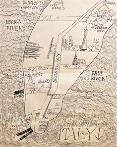 Janine Nichols // Brooklyn, New York // Untitled, circa 1980 Gravure Illustration, Illustration Art, Brooklyn, Design Thinking, A New York Minute, New York City Map, Map Maker, Christmas Drawing, Illustrations